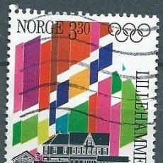Sellos: NORUEGA,1992,JUEGOS OLÍMPICOS,USADO,YVERT 1062,USADO. Lote 104252374