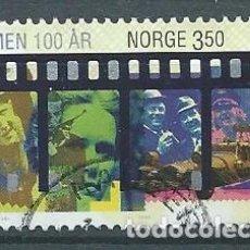 Sellos: NORUEGA,1996,CINEMA,USADO,YVERT 1172,USADO. Lote 104252386
