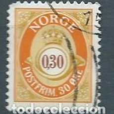 Sellos: NORUEGA,1997,CUERNO POSTAL,USADO,YVERT 1196,USADO. Lote 104252390