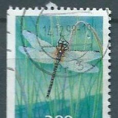 Sellos: NORUEGA,1998,LIBÉLULA,USADO,YVERT 1232,USADO. Lote 104252394