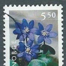 Sellos: NORUEGA,1998,HEPÁTICA,USADO,YVERT 1229,USADO. Lote 104252459