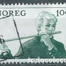 Sellos: NORUEGA,1978,INSTRUMENTOS MUSICALES,USADO,YVERT 739,USADO. Lote 104252463