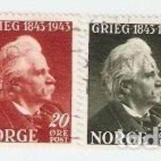 Sellos: SERIE USADA NORUEGA. YVERT Nº 249-252. GRIEG 1845-1943. REF. NORUEGA249-252. Lote 104862315