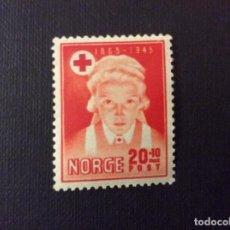 Sellos: NORUEGA Nº YVERT 276*** AÑO 1945. 80 ANIVERSARIO CRUZ ROJA NORUEGA. Lote 121187691