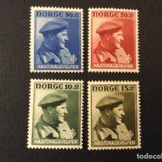 Sellos: NORUEGA Nº YVERT 280/3*** AÑO 1946. PRO OBRAS DE ASISTENCIA NACIONAL. PRINCIPE OLAF. Lote 121187775