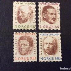 Sellos: NORUEGA Nº YVERT 643/8*** AÑO 1974. GEOLOGOS CELEBRES. Lote 121188015