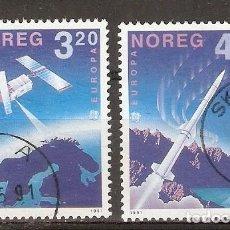 Sellos: NORUEGA. 1991. YT 1019,1020. ESPACIO.. Lote 133398970