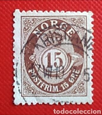 SELLO NORUEGA NORGE POSTFRIM 15 ORE USADO (Sellos - Extranjero - Europa - Noruega)