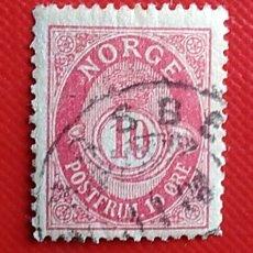Sellos: SELLO NORUEGA NORGE 10 ORE USADO. Lote 247136055
