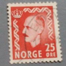 Sellos: SELLO NORUEGA 325 NORGE 25 ORE 1950 REY HAAKON VII USADO. Lote 139581124