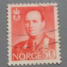 Sellos: SELLO NORUEGA NORGE REY OLAV 50 AÑO 1959 USADO. Lote 139627958