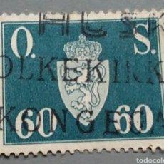 Sellos: SELLO NORUEGA 65 NORGE AÑO 1952 USADO. Lote 139628262