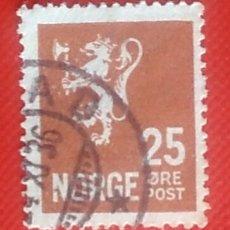 Sellos: SELLO NORUEGA NORGE AÑO 1927 LEÓN 25 ORE USADO. Lote 139630696