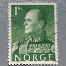 Sellos: SELLO NORUEGA 386 NORGE REY OLAV 1 KR AÑO 1958. Lote 139700045