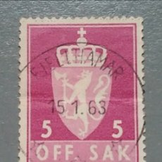Sellos: SELLO NORUEGA 67 NORGE AÑO 1955. Lote 139740030