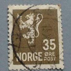 Sellos: SELLO NORUEGA NORGE LEON 35. Lote 140079324