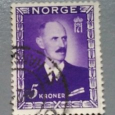 Sellos: SELLO NORUEGA NORGE 288 HAAKON VII 5 AÑO 1946 USADO. Lote 140087290