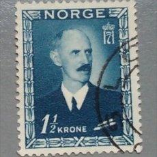 Sellos: SELLO NORUEGA NORGE 286 HAAKON VII 1 1/2 KRONE AÑO 1946 USADO. Lote 140439629