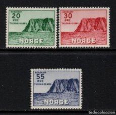 Sellos: NORUEGA 345/47** - AÑO 1953 - TURISMO - CABO NORTE. Lote 142062654
