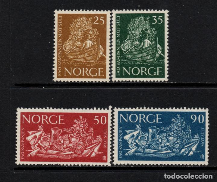 NORUEGA 452/55** - AÑO 1963 - CAMPAÑA MUNDIAL CONTRA EL HAMBRE (Sellos - Extranjero - Europa - Noruega)
