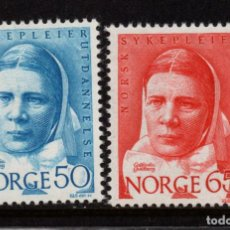 Sellos: NORUEGA 530/31** - AÑO 1968 - CENTENARIO DE LA CASA DE DIACONESSES. Lote 142064022