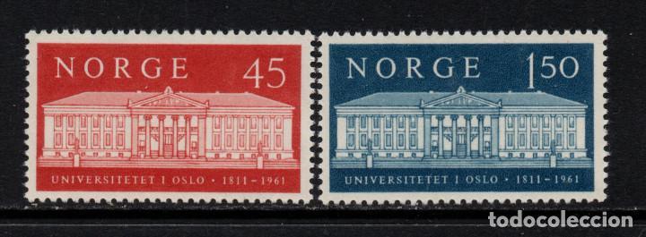 NORUEGA 415/16** - AÑO 1961 - 150º ANIVERSARIO DE LA UNIVERSIDAD DE OSLO (Sellos - Extranjero - Europa - Noruega)