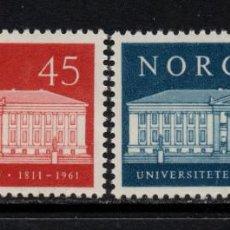 Sellos: NORUEGA 415/16** - AÑO 1961 - 150º ANIVERSARIO DE LA UNIVERSIDAD DE OSLO. Lote 142571422