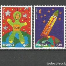 Sellos: NORUEGA YVERT NUM. 1310/1311 ** SERIE COMPLETA SIN FIJASELLOS. Lote 143595090
