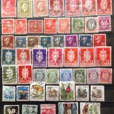 Sellos: NORUEGA NORGE NORWAY 50 SELLOS USADOS NOR-01. Lote 144465818