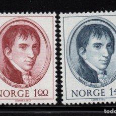 Sellos: NORUEGA 622/23** - AÑO 1973 - BICENTENARIO DEL NACIMIENTO DE JACOB AALL, POLITICO E INDUSTRIAL. Lote 148029354