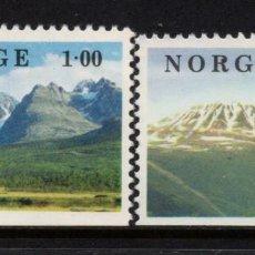 Sellos: NORUEGA 727/28** - AÑO 1978 - PAISAJES. Lote 148029886