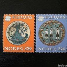 Sellos: NORUEGA. YVERT 792/3 SERIE COMPLETA NUEVA SIN CHARNELA. EUROPA CEPT. DECORACIÓN OBJETOS. FOLCLORE.. Lote 151569061