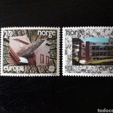 Sellos: NORUEGA. YVERT 921/2 SERIE COMPLETA NUEVA SIN CHARNELA. EUROPA CEPT. ARQUITECTURA MODERNA.. Lote 151569466