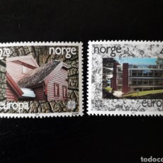 Sellos: NORUEGA. YVERT 921/2 SERIE COMPLETA NUEVA SIN CHARNELA. EUROPA CEPT. ARQUITECTURA MODERNA.. Lote 151569509