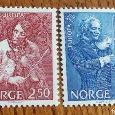 Sellos: NORUEGA : YT. 880/81,EUROPA CEPT, MÚSICA, MNH, AÑO1985. Lote 155116401
