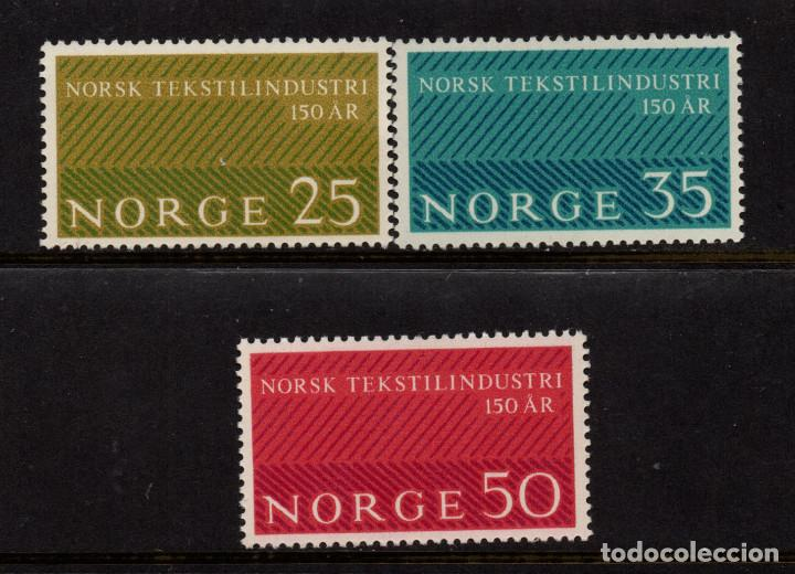 NORUEGA 462/64** - AÑO 1963 - 150º ANIVERSARIO DE LA INDUSTRIA TEXTIL (Sellos - Extranjero - Europa - Noruega)