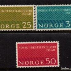 Sellos: NORUEGA 462/64** - AÑO 1963 - 150º ANIVERSARIO DE LA INDUSTRIA TEXTIL. Lote 170286832