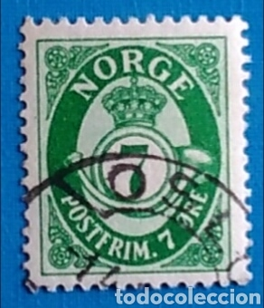 SELLO NORUEGA NORGE 7 ORE POSTFRIM. USADO (Sellos - Extranjero - Europa - Noruega)