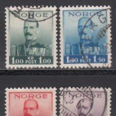 Sellos: NORUEGA, 1937-38 YVERT Nº 183 / 186 . Lote 172729568