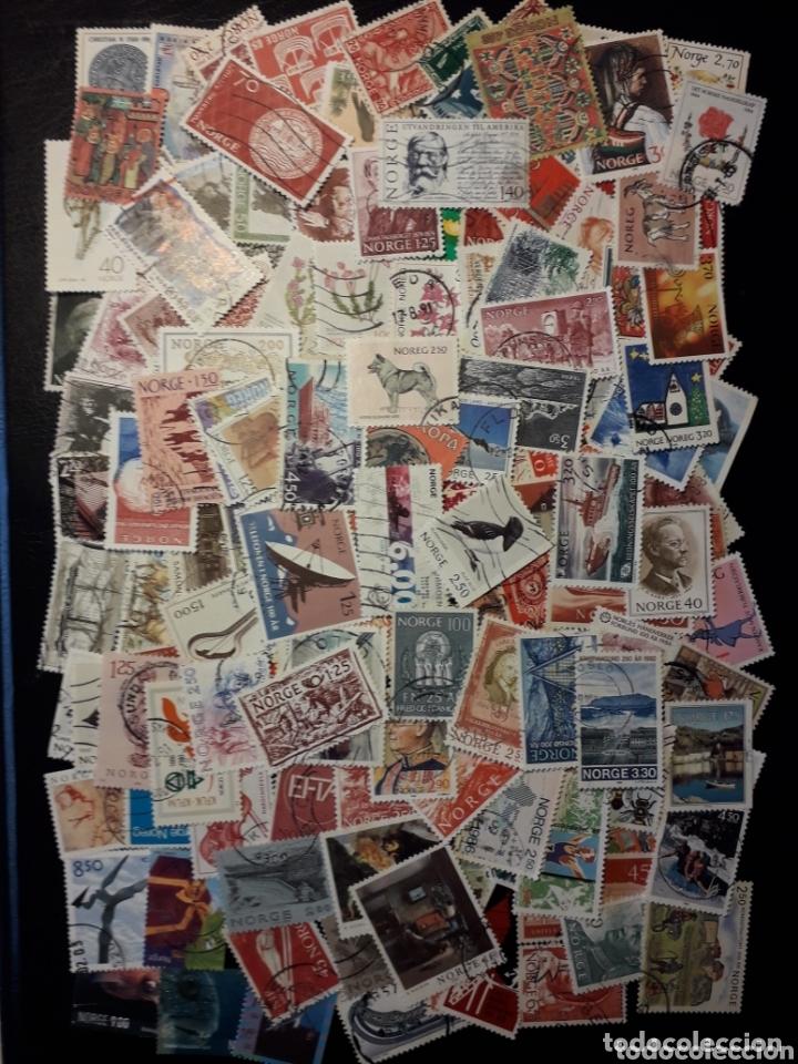 NORUEGA. LOTE DE 150 SELLOS DIFERENTES. MAYORÍA USADOS. LOS DE LAS FOTOS. (Sellos - Extranjero - Europa - Noruega)