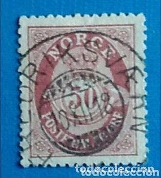 SELLO NORGE NORUEGA 50 ORE POSTFRIM USADO (Sellos - Extranjero - Europa - Noruega)