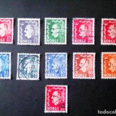 Sellos: NORUEGA 1950/57, REY HAAKON VII. Lote 176584640