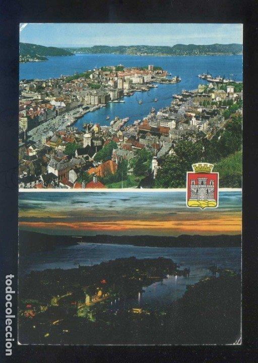 Sellos: Noruega. Bergen. Circulada Trondheim-Kirkenes a Calaf en 1977. - Foto 2 - 178217358