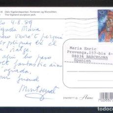 Sellos: NORUEGA. OSLO. *THE VIGELAND...* CIRCULADA OSLO 1989.. Lote 178228218