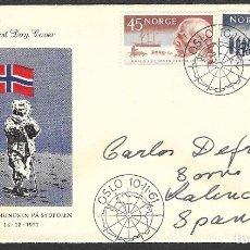 Sellos: CARTA CERTIFICADA DE NORUEGA DE 1961, CON SERIE YT 419/ 20, FOTO ORIGINAL. Lote 181725811