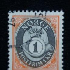 Sellos: NORUEGA, 1 KR, POSTFRIM, AÑO 2001, SIN USAR. Lote 182032773