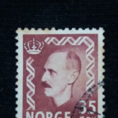 Sellos: NORUEGA, 35 ORE, REY HAAKON, AÑO 1951, SIN USAR. Lote 182033786