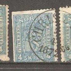 Sellos: NORUEGA, 1861,1863/1867, USADOS.. Lote 186372895