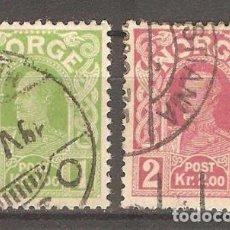 Sellos: NORUEGA, 1910,1915,CAT.YT. 86 Y MI.89 AX, USADOS, SIN GOMA, FIJASELLOS.. Lote 186372988