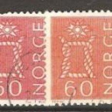Sellos: NORUEGA,1962,63.USADOS,SIN GOMA,FIJASELLOS,CAT.YT.439,440A,442,443,445A,446,447,449.. Lote 186720201